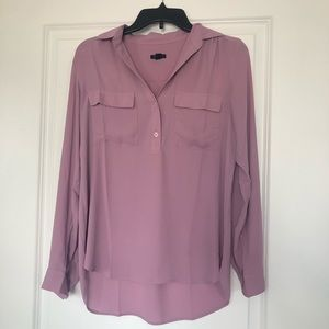 Ann Taylor Lilac Camp Shirt
